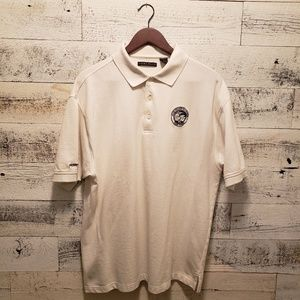 White Vintage School Polo